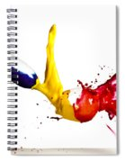 Falling Glasses Of Paint Spiral Notebook