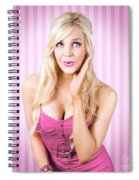 Fantastic Blond Pinup Girl With Surprised Look Spiral Notebook