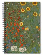 Farm Garden With Sunflowers Spiral Notebook