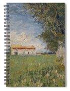 Farmhouse In A Wheat Field Spiral Notebook