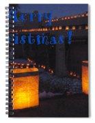 Farolitos Or Luminaria On Wall-2 Spiral Notebook
