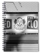 Feed The Clown In Black And White Spiral Notebook
