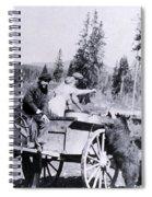 Feeding Bear Yellowstone National Park Spiral Notebook