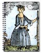 Female Continental Soldier Spiral Notebook