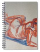 Female Figure Painting Spiral Notebook