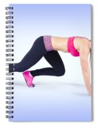 Female Track And Field Athlete Preparing To Run Spiral Notebook