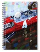 1965 British Grand Prix Silverstone  Lorenzo Bandini Ferrari 158 Spiral Notebook