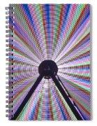 Ferris Wheel And Fireworks Spiral Notebook