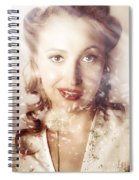 Fifties Beauty In Nature And Natural Light Spiral Notebook