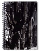 Film Homage Jean Harlow Bombshell 1933 Saguaro National Monument Tucson Arizona Duo-tone 2008 Spiral Notebook