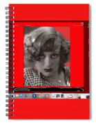 Film Homage Joan Crawford Louis Milestone Rain 1932 Collage Color Added 2010 Spiral Notebook