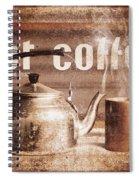 Fine Art Coffee Shop Tin Sign Insignia Spiral Notebook