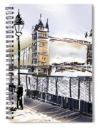 Fine Art Drawing The Tower Bridge In London Uk Spiral Notebook