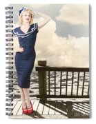 Fine Art Vintage Pin-up. Vacation Departure Dock Spiral Notebook