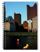Fire On The River Spiral Notebook