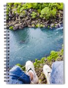 First Person View Riding The Tasmanian Chairlift Spiral Notebook