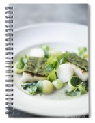 Fish Fillet With Herb Topping And Vegetables Spiral Notebook