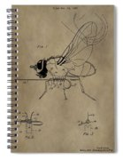 Fishing Fly Patent Spiral Notebook