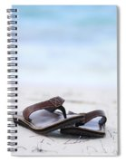 Flip-flops On Beach Spiral Notebook