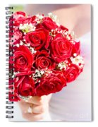 Floral Rose Boquet Held By Bride Spiral Notebook
