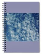 Florida Clouds Above Spiral Notebook