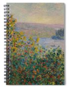 Flower Beds At Vetheuil Spiral Notebook