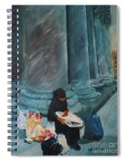 Flower Lady Of The Pantheon Spiral Notebook