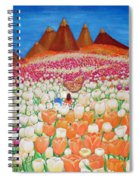 Flowers And Fields Alive With Thy Joy Spiral Notebook
