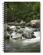 Flowing Stream In Vermont Spiral Notebook
