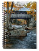 Flume Gorge Covered Bridge Spiral Notebook