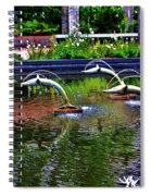 Flying Dolphins Spiral Notebook