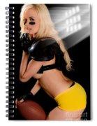 Football Girl Spiral Notebook