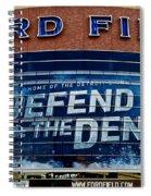 Ford Field Spiral Notebook