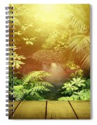 Forest Light Spiral Notebook