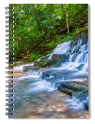 Forest Stream And Waterfall Spiral Notebook