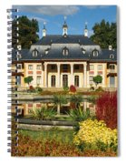 Formal Garden In Front Of A Castle Spiral Notebook
