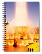 Fountain Lit Up At Dusk, Buckingham Spiral Notebook
