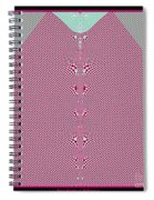 Fractal 28 Pink Gingham Shirt Spiral Notebook