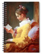 Fragonard's Young Girl Reading Spiral Notebook