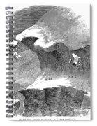 France Mont Blanc, 1851 Spiral Notebook