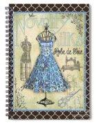 French Dress Shop-b1 Spiral Notebook