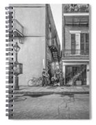 French Quarter Trio - Paint Bw Spiral Notebook