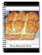 Fresh Homemade Bread Spiral Notebook