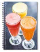 Fresh Orange Carrot And Watermelon Fruit Juice Spiral Notebook