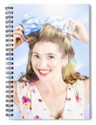 Friendly Female Pin-up Wearing Hair Accessories  Spiral Notebook