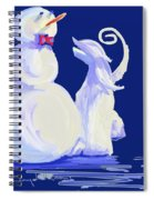 Frosty Blue Spiral Notebook