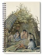 Fuegans In Their Hut, 18th Century Spiral Notebook