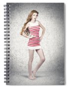 Full Length Retro Fashion Photo. Perfect Woman Spiral Notebook