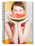 Funny Woman With Juicy Fruit Smile Spiral Notebook