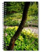 Garden Bench Spiral Notebook